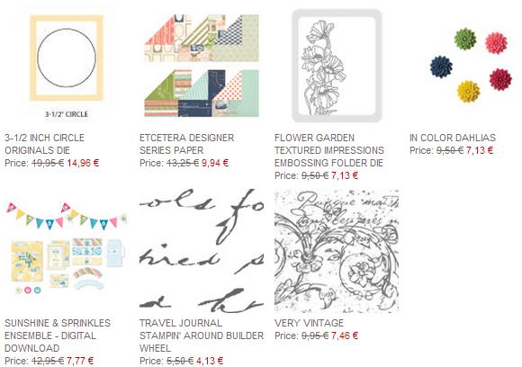 Stampin up Angebote der Woche 1806-24062014