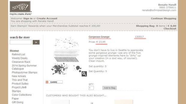 Stampin Up schnipseldesign Linz Mondsee Online Shop