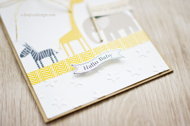 Personalisierte baby karte stampin up zoo babies for Weihnachtskarten personalisiert