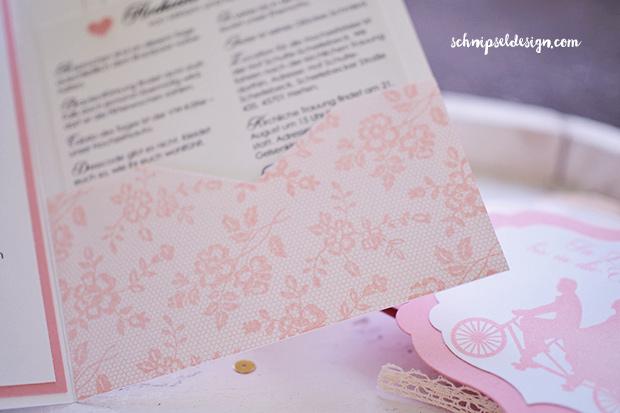 ... Stampin Up Pocket Fold Einladung Hochzeit Kirschblute I